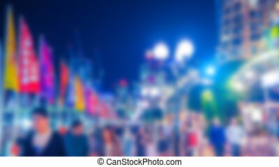 Abstract blur Street lights