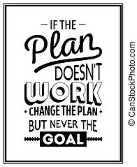 Quote typographical Background - If the plan does not work,...