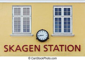 The old train station in Skagen, Denmark