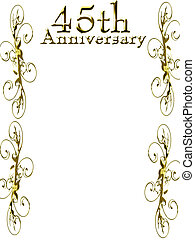 45th anniversary on a solid white background