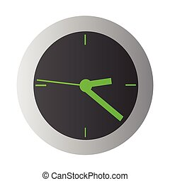 clock - Wall and mechanical phosphoric arrows clock