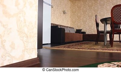chair hotel motion room Interior with chairs and carpets...