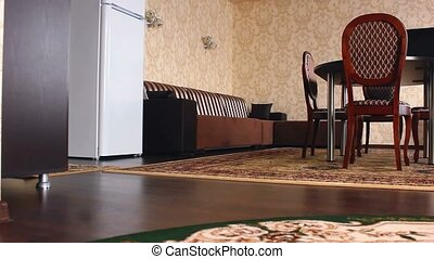 chair motion hotel room Interior with chairs and carpets...