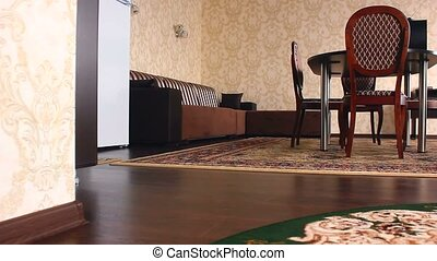 chair motion room hotel Interior with chairs and carpets...