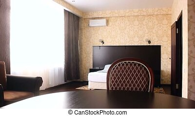 chair bedroom motion room Interior hotel with chairs and...