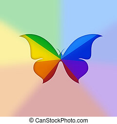 colorful butterfly - pattern in the manner of colorful...