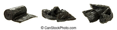 garbage bag - plastic garbage bag isolated on the white...