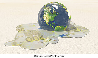 Americas Euro Melt Elements in this image furnished by NASA...