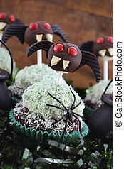 Happy Halloween Ghoulish Cupcakes - Happy Halloween party...