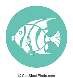Fish icon graphic design, vector illustration eps10.