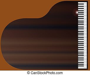 Grand Piano Background - Top view of a grand piano set on a...