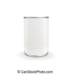 blank food can