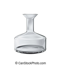 Empty chemical flask isolated on white 3d model