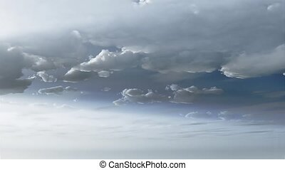 Timelapse clouds 3d animation