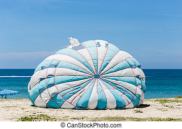 Parasailing at Karon Beach in Phuket - Thailand - Old...