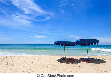 Tourist at Karon beach in phuket island, Thailand - Tourist...