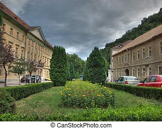 Bath Herculane city center, Banat, Romania, Eastern Europe