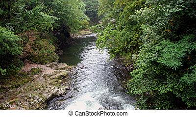 Bath Herculane - Cerna river, Banat, Romania, Eastern Europe