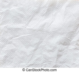 White crumpled tissue paper background texture