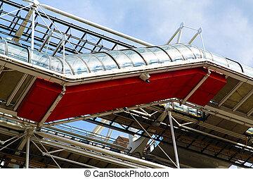 Centre Pompidou - The Centre Pompidou in Paris designed in...