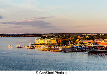Marina and Condos on Point of Land - View of Charlottetown,...
