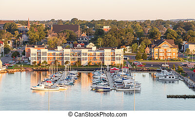 Marina and Condos - View of Charlottetown, Prince Edward...