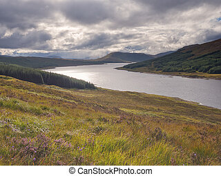 Lookout over Loch Ness, Scotland - Lookout over Loch Ness...