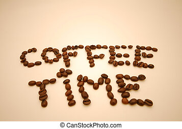 Coffee time - The word coffee time spelt in words using...