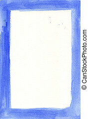 blue frame - great watercolor background frame - watercolor...