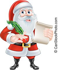 Santa With His List - Santa Claus with his Christmas list...