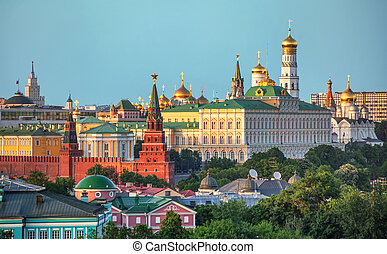 The historical center of Moscow - View of the historical...
