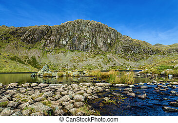 Stickle Tarn and Pavey Ark - A view of Stickle Tarn and...