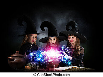 Three little witches - Three little Halloween witches...