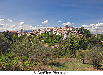medieval town Lanciano, Abruzzo, Italy - landscape of the...
