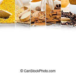 Spice Mix - Photo of colorful spice mix with white space for...