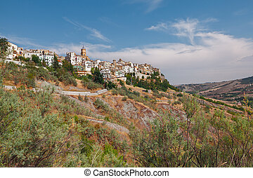 ancient town Atessa, Abruzzo, Italy - landscape of the...