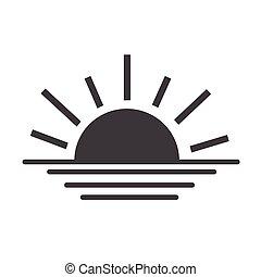 sunrise sunset line icon