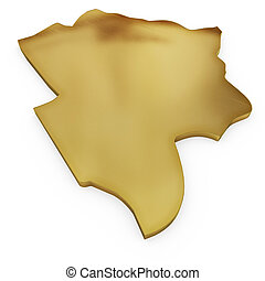 The photorealistic golden shape of Botswana (series)