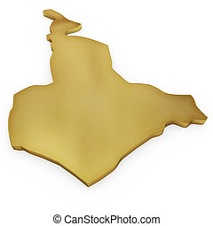 The photorealistic golden shape of Cameroon (series)