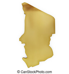 The photorealistic golden shape of Chad (series)