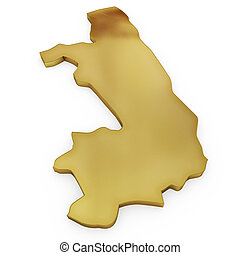 The photorealistic golden shape of Congo (series)