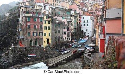 Riomaggiore - View of Riomaggiore, Cinqueterre, Italy