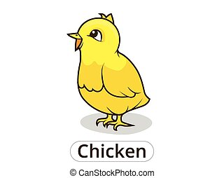 Chicken animal cartoon illustration for children
