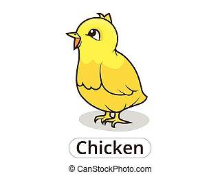 Chicken animal cartoon illustration for children - Chicken...