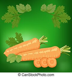 Carrots. Healthy lifestile - Carrots. Label, there is a...