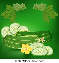 Cucumbers. Healthy lifestile - Cucumbers. Label, there is a...