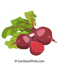 beetroot. Healthy lifestile - Beetroot, whole and cut into...