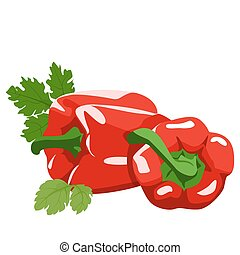 Sweet pepper Healthy lifestile - Sweet pepper and parsley on...