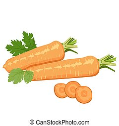 Carrots Healthy lifestile - Carrots whole and cut into...