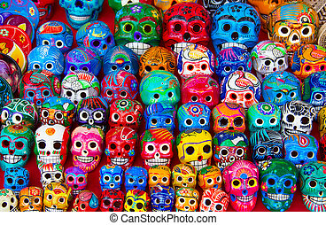 Mexican ceramics - Colorful traditional mexican ceramics on...